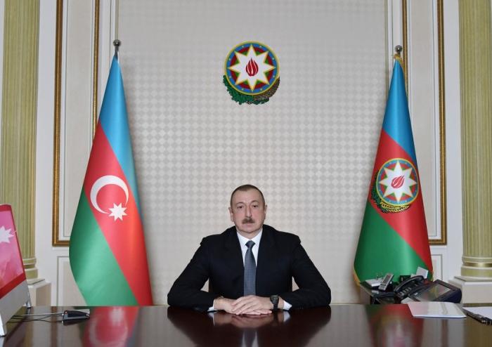 President Ilham Aliyev addresses Azerbaijani entrepreneurs in his speech