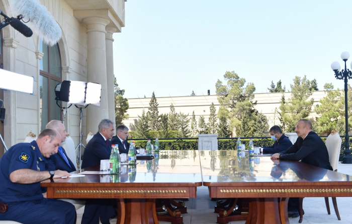 President Ilham Aliyev receives Russian defense minister - UPDATED