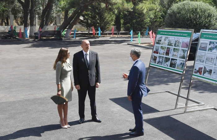 President Ilham Aliyev and first lady Mehriban Aliyeva attend opening of Sattar Bahlulzade Culture House