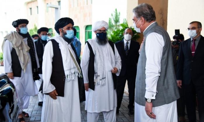 Afghan Taliban delegation, Pakistani FM discuss Afghan peace process