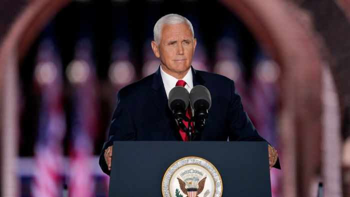 """Mike Pence officially accepts VP nominationcalling for """"law and order"""""""