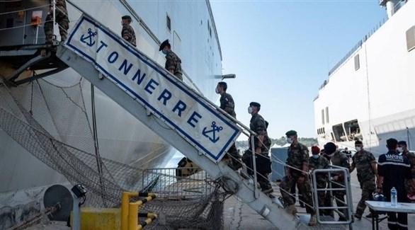 سفينة مساعدات فرنسية في لبنان