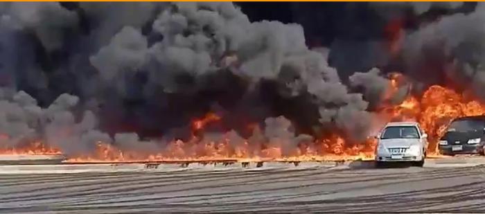 """أسباب حريق """"السوق الإيراني"""""""