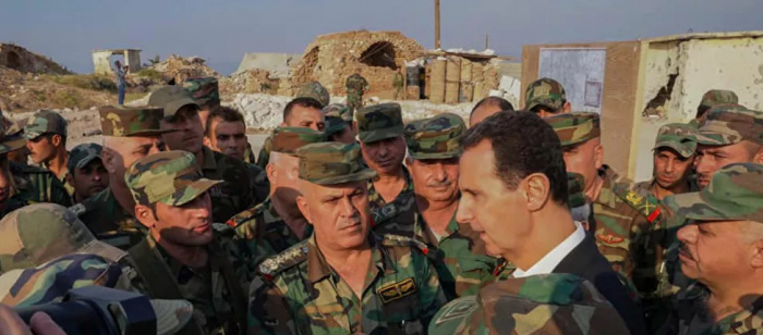 وجّه  بشار الأسد كلمة إلى القوات المسلحة السورية بمناسبة الذكرى الخامسة والسبعين لتأسيس الجيش.