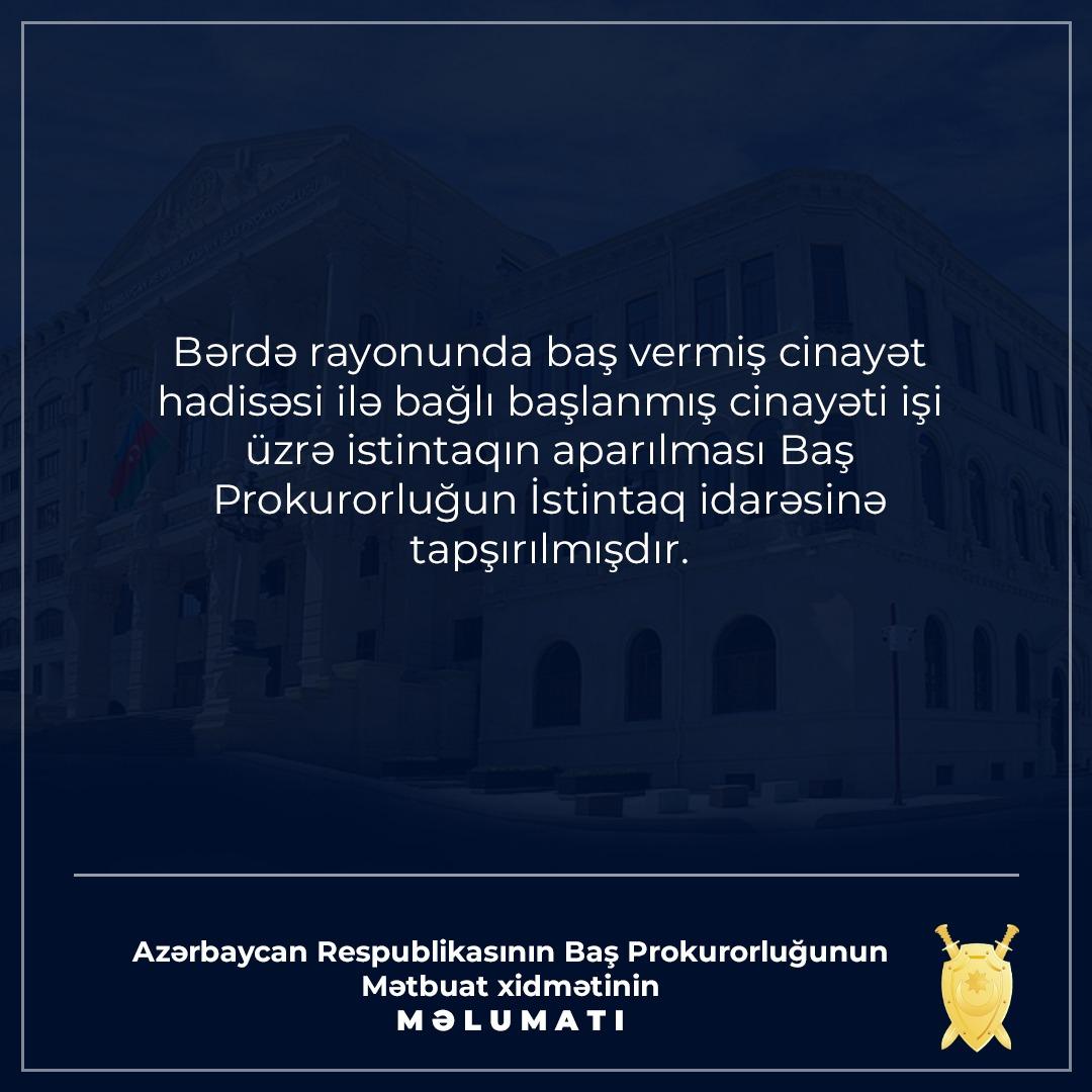 Prokurorluq və DİN-in vəzifəli şəxsləri Bərdəyə ezam olundu