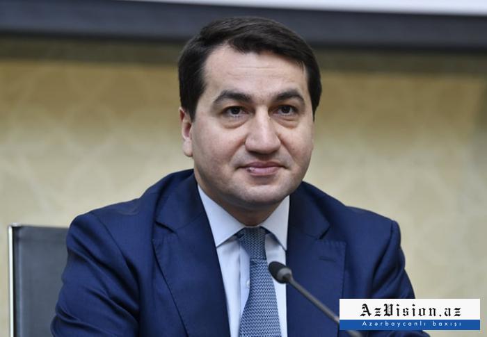 """حكمت حاجييف:  """"استفزاز أرمينيا انتهى بهزيمة كاملة لها"""""""