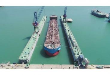 Lanzan en Azerbaiyánel segundo buque cisterna fabricado para la próxima etapa de construcción