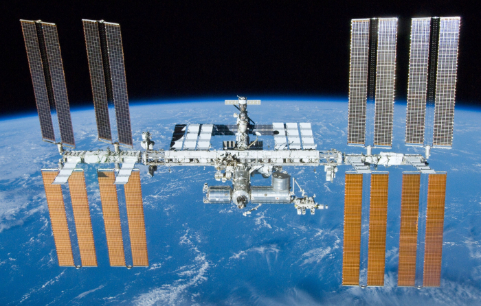 The International Space Station leaks air