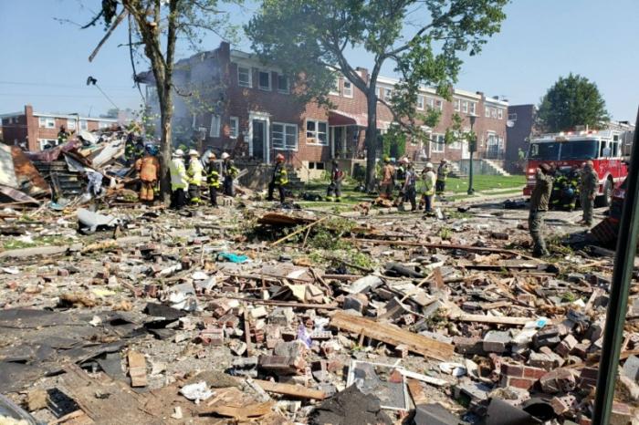 USA :  une explosion a soufflé lundi plusieurs habitations de Baltimore