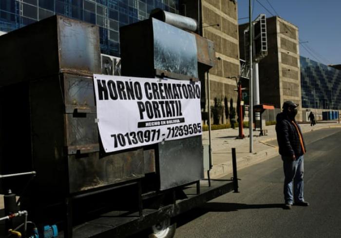 Bolivian engineers create   mobile crematorium   because of rising COVID-19 deaths