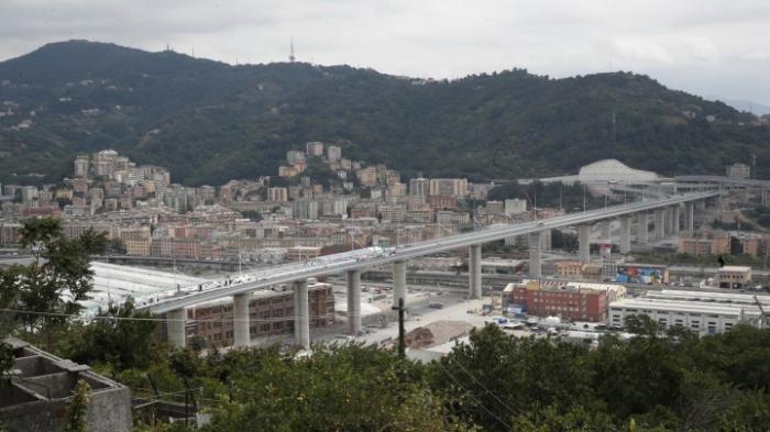 Neubau der Brücke in Genua für Autoverkehr frei
