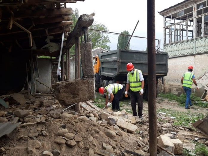 Azerbaijan eradicates damage inflicted to Tovuz district by Armenian armed forces