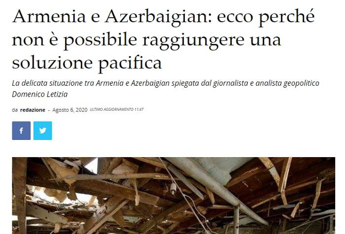"""""""Ermənistanda totalitar rejim hökm sürür"""" -    İtalyan jurnalist"""
