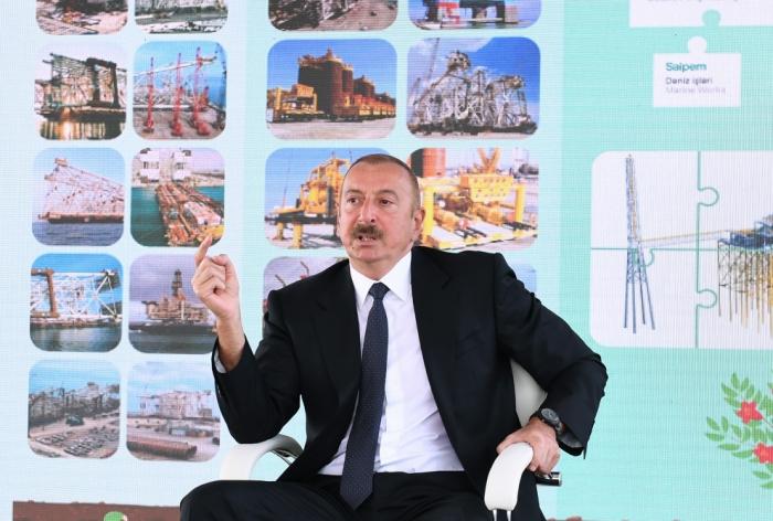 PresidenteIlham Aliyev:   El trabajo de nuestros trabajadores petroleros sirve a los intereses del pueblo azerbaiyano