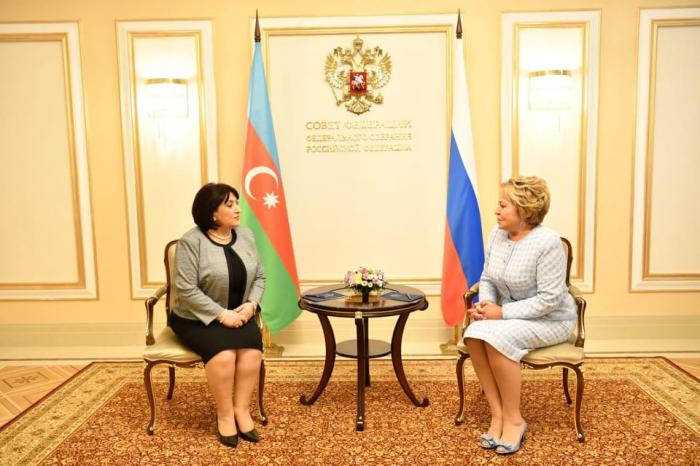 Sahibə Qafarova Valentina Matviyenko ilə görüşdü -  YENİLƏNİB