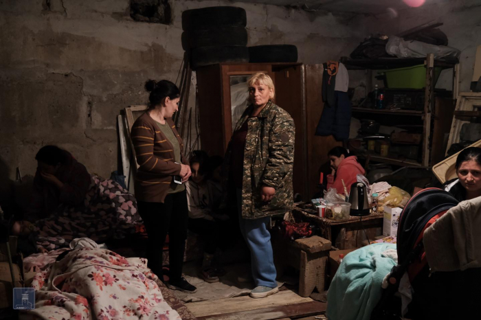 Armenians snuggled in bunkers -  PHOTOS