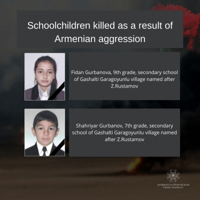 Schoolchildren killed as a result of Armenian violence