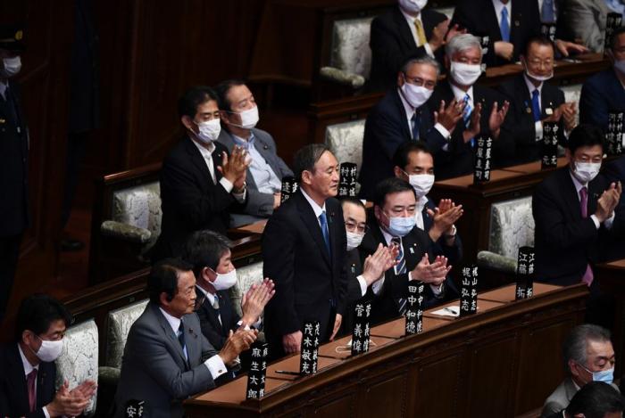 Le parlement japonais a élu Yoshihide Suga comme nouveau Premier ministre