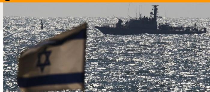 """تختبر منظومة صواريخ """"بحر بحر""""البحرية الإسرائيلية"""
