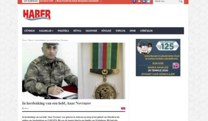 Dutch media highlights heroism of Azerbaijani army officer, killed in recent Armenian provocation