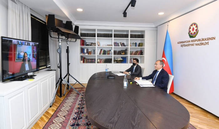 Azerbaijani minister of economy, WB regional director for South Caucasus hold talks