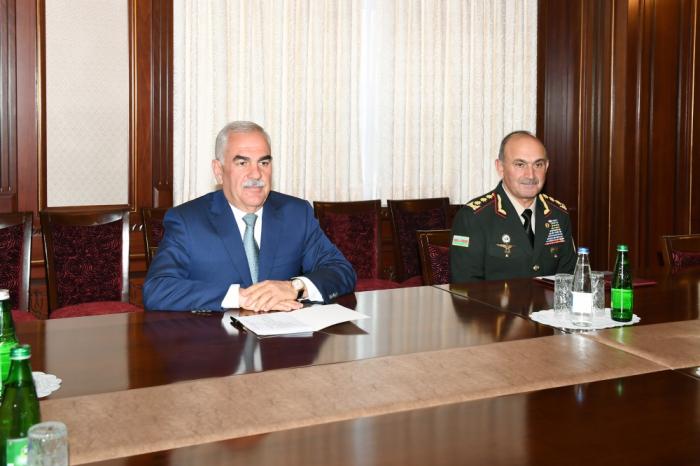 Vasif Talıbov türkiyəli generalla görüşdü