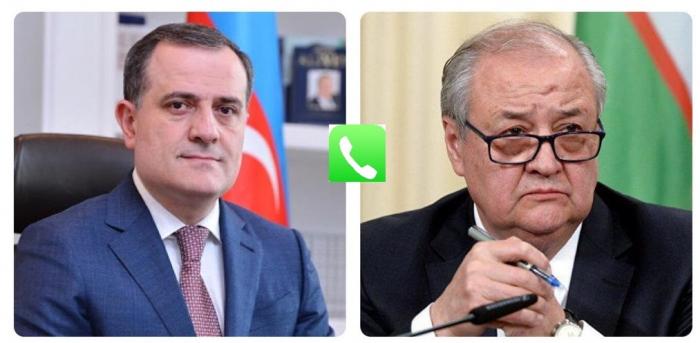 Azerbaijani FM calls his Uzbek counterpart to discuss bilateral ties