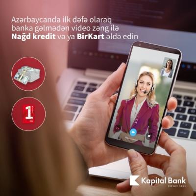 """Azərbaycanda ilk: Videozənglə """"BirKart"""" və nağd pul krediti əldə edin"""