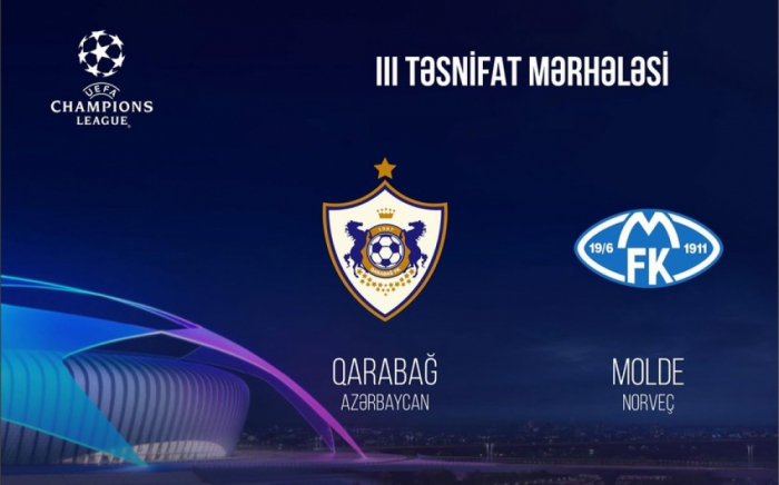 UEFA: leFK Qarabag affronterale Molde à Chypre
