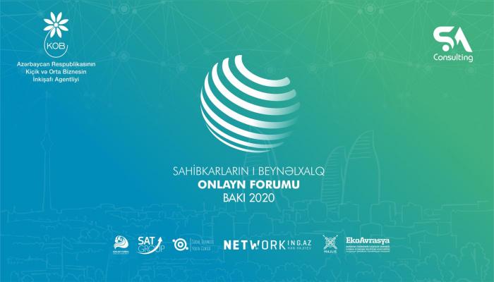 First online forum of entrepreneurs -Baku 2020 to be held on September 22-23