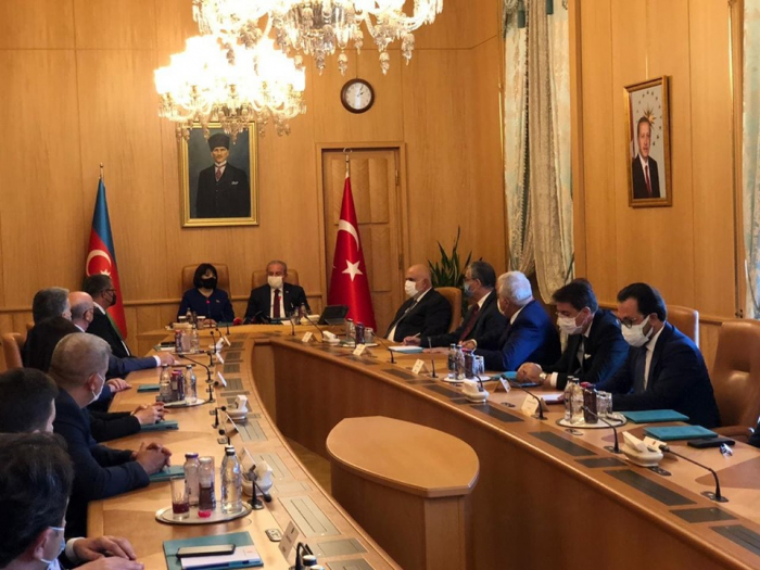 Parliament speakers of Azerbaijan and Turkey hold meeting