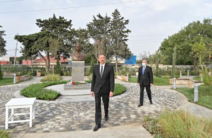 الرئيس في تدشين الحديقة الحاملة اسم مرتضى مختاروف  -   صور