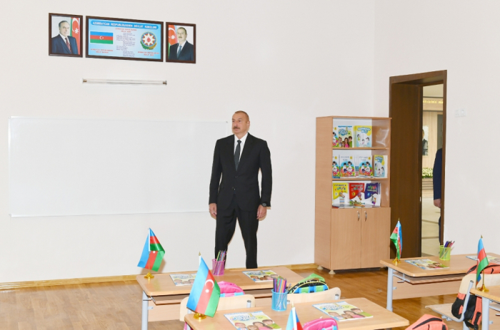 Prezident Albert Aqarunovun adını daşıyan məktəbdə -  FOTOLAR (YENİLƏNİB)