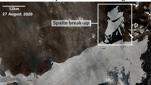 Warmth shatters section of Greenland ice shelf amid climate change
