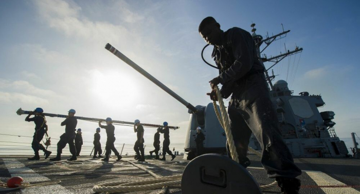 Russische Marine behält im AugeUS-Kriegsschiff