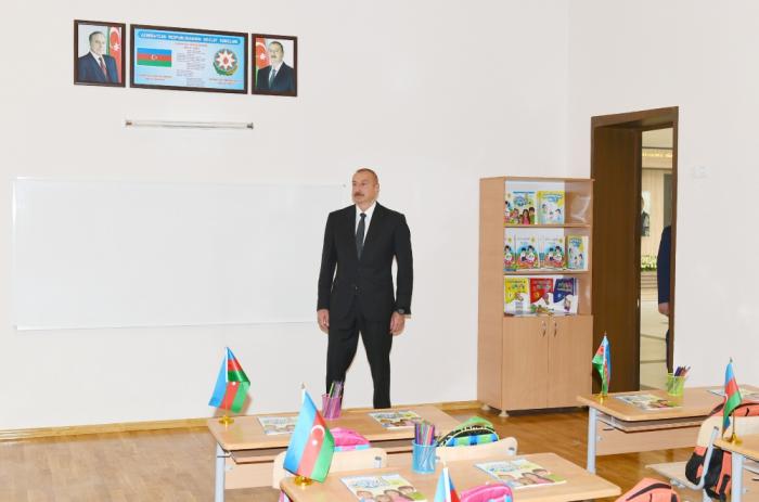 President Ilham Aliyev inaugurates secondary schoolnamed after national hero Albert Agarunov - UPDATED