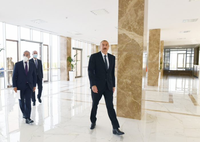 President Ilham AliyevinauguratesVocational Education Center - UPDATED