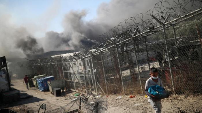 Nach Brand in Flüchtlingslager Moria 5 Menschen festgenommen