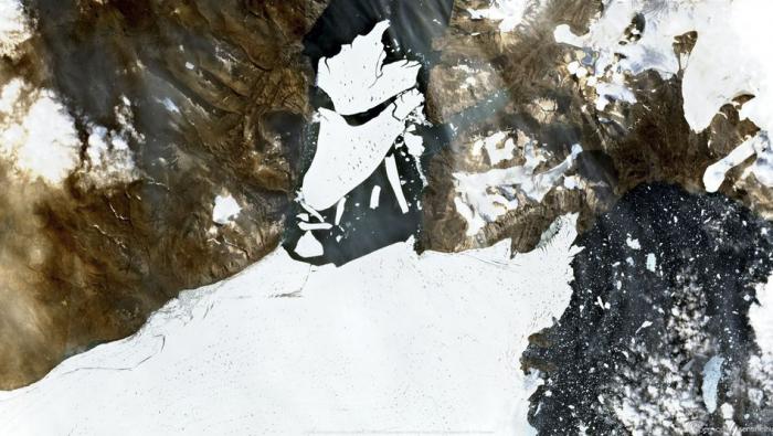 Riesiger Eisbrocken Grönlands ist abgebrochen