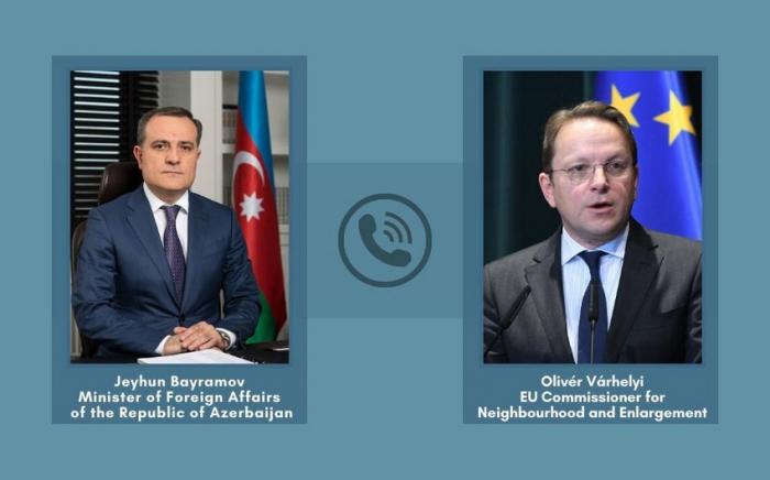 Azerbaijani FM, EU Commissioner hold phone talk