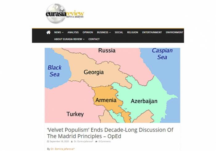 """""""Eurasia Review"""" nəşri Qarabağ münaqişəsindən yazdı"""