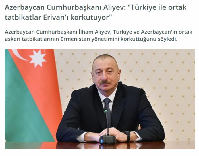 Prezidentin yerli televiziyalara müsahibəsi Türkiyə mediasında