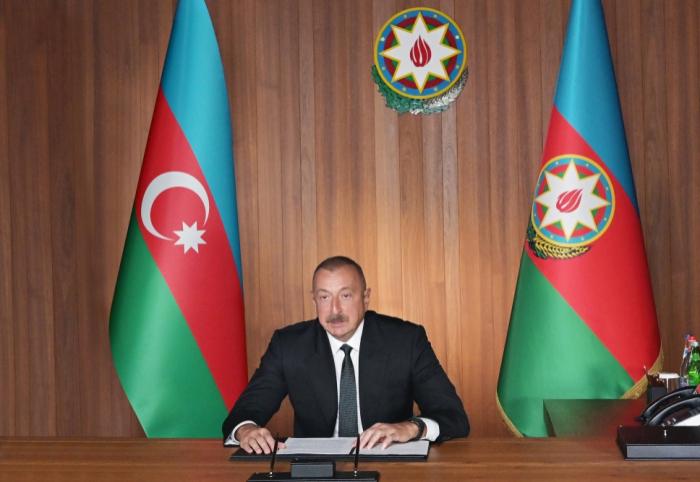 """ألرئيس الاذربيجاني:  """"ندعو جميع الدول إلى الامتناع عن إمداد أرمينيا بالسلاح"""""""