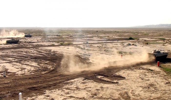Armored vehicle crews of Azerbaijani Army improve their combat skills -  VIDEO