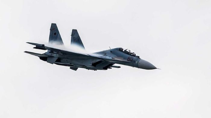 Su-30 fighter jet crashes in Russia, crew forced to eject