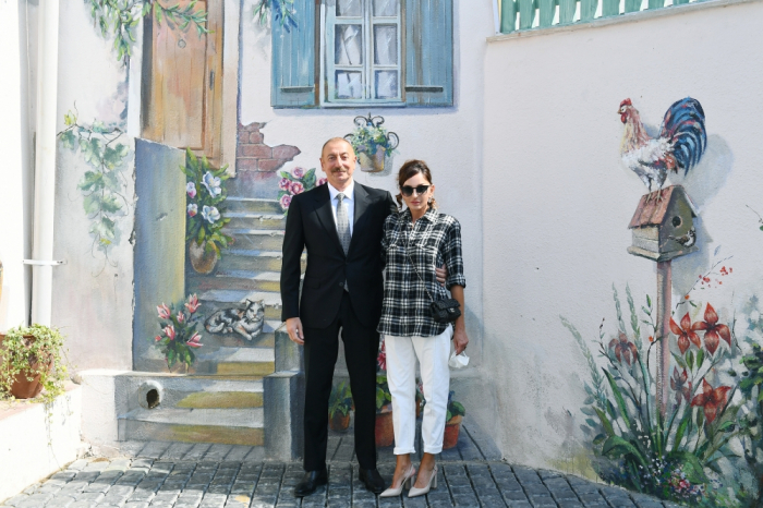Präsident und First Lady in Balakhani -   Fotos