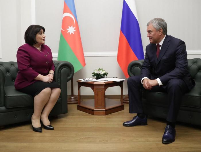 Speaker of Azerbaijani Parliament meets Russia