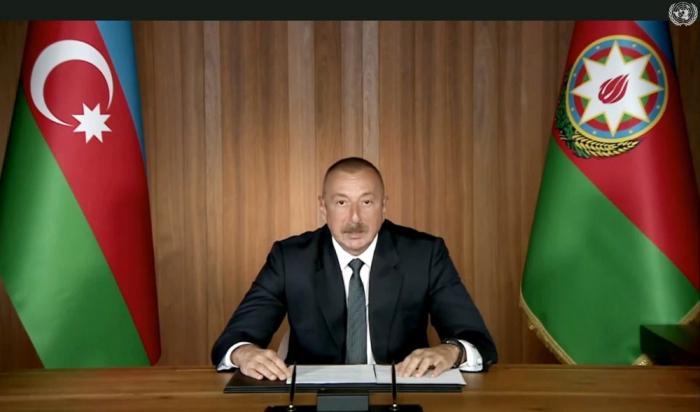 Prezident BMT-də Ermənistanın işğalçı planlarını ifşa etdi -  ŞƏRH
