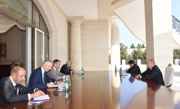 President Ilham Aliyev receivesEU