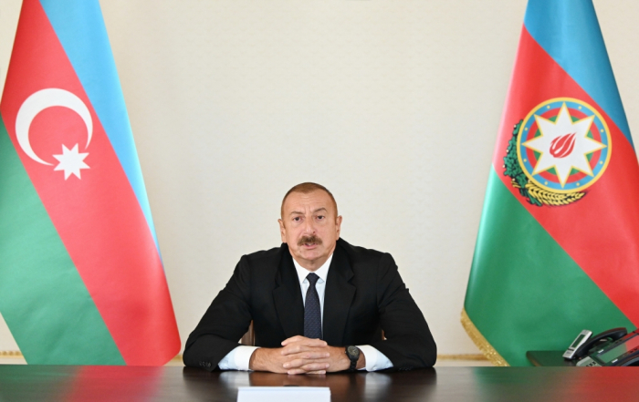 We have no military targets in the territory of Armenia, says Ilham Aliyev